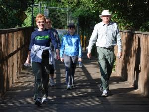 Leslie, Phil, Sue, and Chris on the Los Gatos year round trail