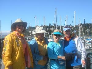 Holly, Jacquie, Sue and Leslie at the Sausalito, CA, ferry